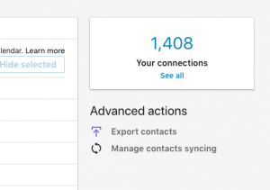 Export Your Linkedin Contacts